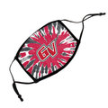 MASK - TIE DYE WOODSTOCK FACE MASK WITH FULL COLOR GV IN CENTER, ADJUSTABLE STRAPS