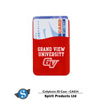 CELL PHONE ID CASE STICKY CARD HOLDER RED