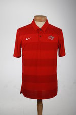 POLO MENS RED WITH HEATHER RED STRIPES