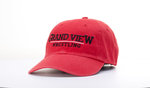 CAP - GRAND VIEW WRESTLING - RED TWILL ADJUSTABLE BACK