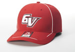 CAP - ALL RED LIGHTWEIGHT W/ WHITE PIPING - ADJUSTABLE