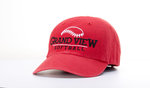 CAP - GRAND VIEW SOFTBALL WITH SOFTBALL ABOVE - RED TWILL ADJUSTABLE BACK