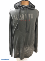 TUNIC SM. CHARCOAL/GRAPHITE HEATHER WEREVER SLUB TUNIC WMNS. GRAND VIEW GRAY SKINNY TEXT VIKINGS SM. RED SKINNY TEXT