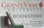 GRAND VIEW UNIVERSITY BOOKSTORE GIFT CARD