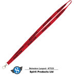 LANYARD - RED WITH BLACK GRAND VIEW IMPRINT