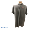 POLO SM. BLACK MENS VICTORY TEXTURE POLO WITH VIKINGS GV LEFT CHEST