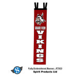 "BANNER - 8"" FULLY EMBROIDERED WALL BANNER"