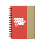 NOTEBOOK - RED WITH SMALL NOTEPAD INSIDE AND POST IT TABS