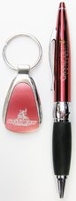 RED TWIST PEN AND KEYTAG GIFT SET