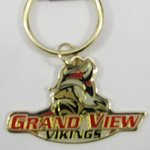 BRASS KEY RING WITH PRIMARY VIKING LOGO