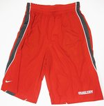 MENS RED NIKE FADEAWAY SHORT WITH GRAY INSETS