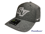 CAP - CHAMBRAY WITH ALL WHITE STITCHED OUTLINE OF GV LOGO ON FRONT