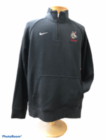 PERFORMANCE SM. BLK MENS CLUB 1/4 ZIP WITH VIKING LOGO FULL COLOR VIKINGS RED ALL EMBROIDERED LEFT CHEST