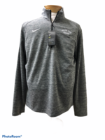 DRIFIT LG. CARBON HEATHER MENS PACER 1/4 ZIP WITH LEFT CHEST ALL WHITE EMB. GRAND VIEW ARCHED OVER VIKINGS