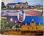 MOUSEPAD HARD SURFACE WITH CAMPUS SCENES 7.5 X 8.5