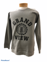 SWEATSHIRT SM. GRAY WITH GRAND SEAL VIEW IN ALL BLACK